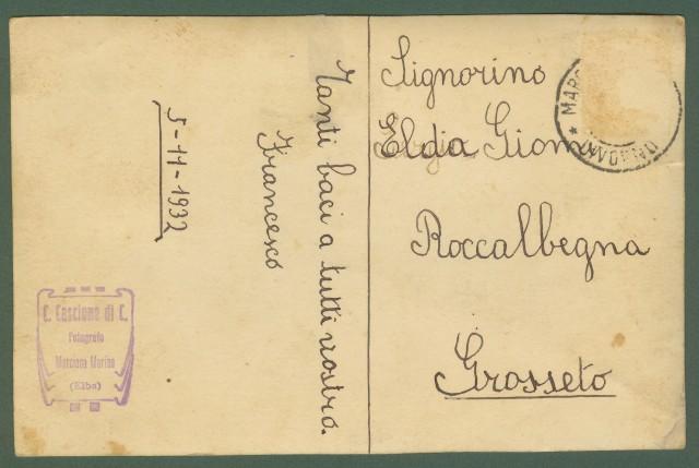 ISOLA D'ELBA. MARCIANA MARINA. Fotografia originale dello studio Cascione di Marciana Marina raffigurante il porto con