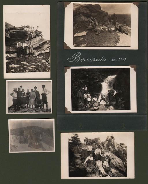 ALPI COZIE, Monte Bocciarda, provincia di Torino. 5 cartoline fotografiche del 1929.