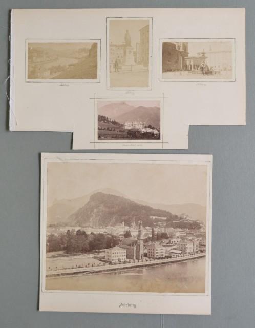 AUSTRIA. SALISBURGO, SALZBURG. Cinque foto d'epoca all'albumina databili alla fine del 1800.