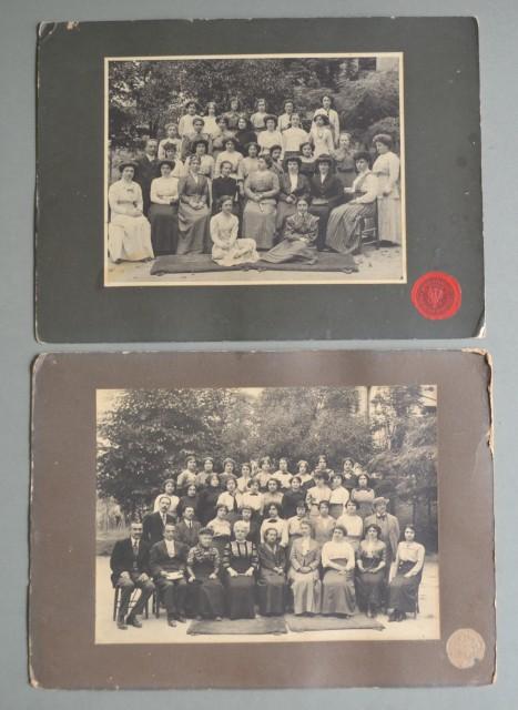 Umbria. PERUGIA. Studio Fotografico Cavalieri. Due foto databili ai primi anni del 1900.