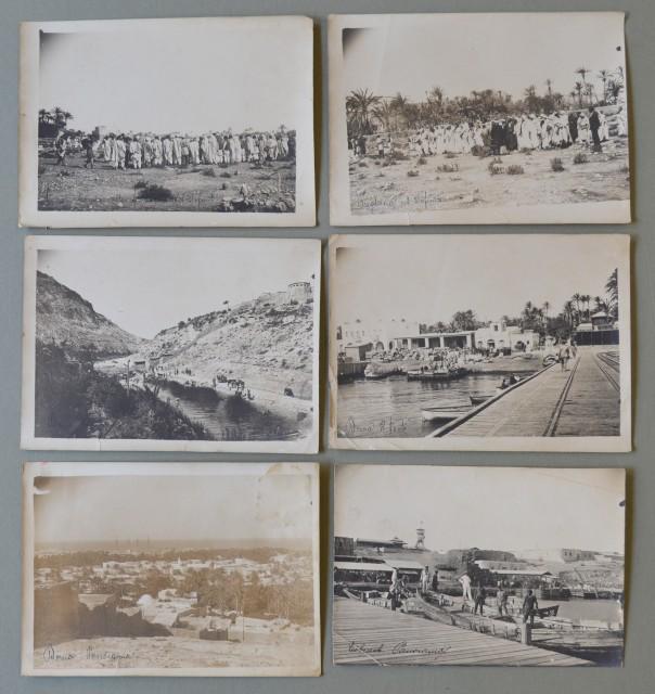 LIBIA. Insieme di sei foto d'epoca (circa 1915)