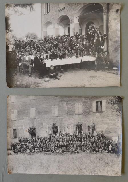 CARPI, Modena. Due foto d'epoca (databili attorno al 1920/30) del fotografo Alfonso Sighinolfi di Carpi.
