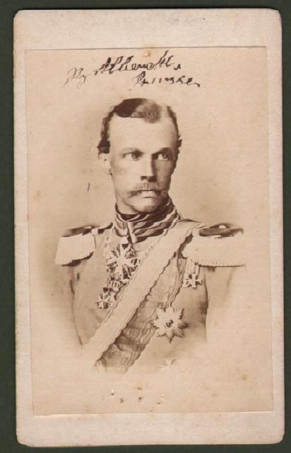 Alberto di Prussia (1837 '– 1906). Principe, Feldmaresciallo dell''esercito prussiano e dal 1885 reggente del ducato di Brunswick.