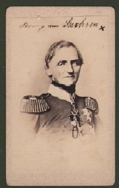 Giovanni di Sassonia (1801 '– 1873), re di Sassonia. Raffigurato in divisa a mezzo busto.