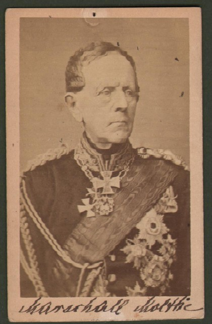 Moltke Helmuth Karl Graf Von (1800 '– 1891). Capo di Stato Maggiore dell''esercito prussiano per 30 anni, artefice delle vittorie sulla Francia e sull''impero austro-ungarico. Viene considerato uno dei pigrandi strateghi militari della storia.