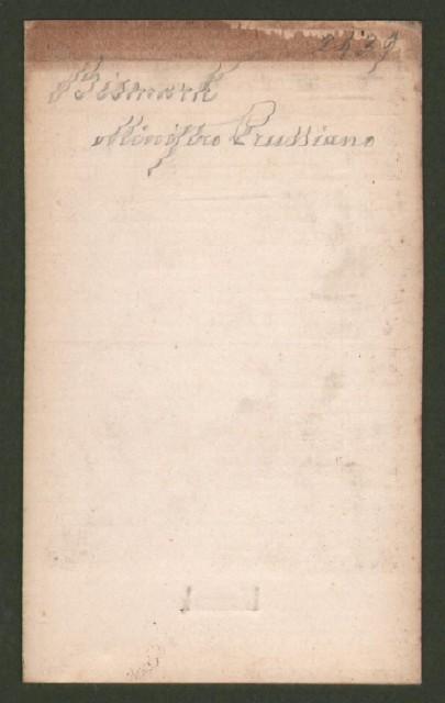 Ottone di Bismark (1815-1888), statista. detto Il Cancelliere di ferro.
