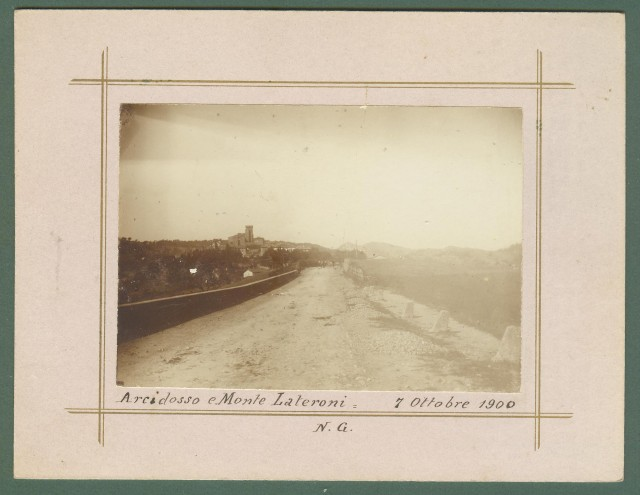Toscana. ARCIDOSSO e MONTE LATERONI,7 Ottobre 1900. Grosseto. Foto d'epoca all'albumina
