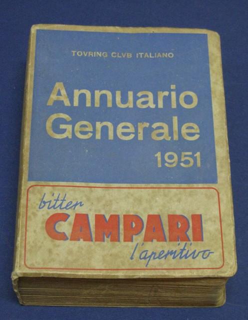 TOURING CLUB ITALIANO. Annuario generale 1951.