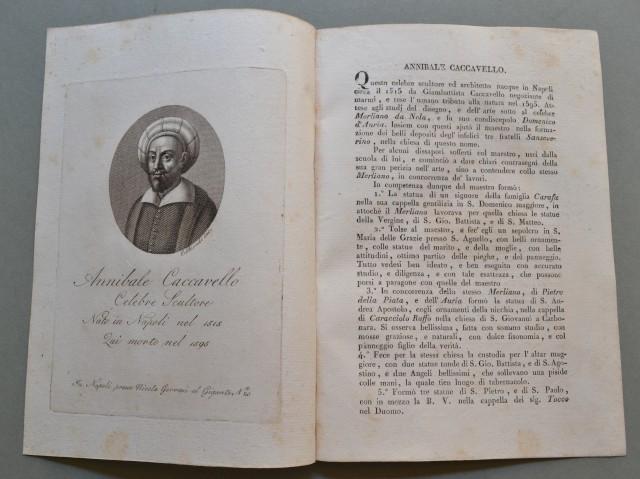 REGNO DI NAPOLI. Campania. ANNIBALE CACCAVELLO, nato a Napoli nel 1515, ivi morì nel 1595. Celebre scultore.