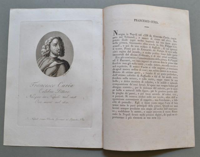 REGNO DI NAPOLI. Campania. FRANCESCO CURIA, nato a Napoli nel 1538, ivi morì nel 1610. Celebre pittore.