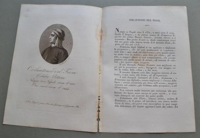 REGNO DI NAPOLI. Campania. COLANTONIO DEL FIORE, nato a Napoli nel 1352, ivi morì nel 1444. Celebre pittore.