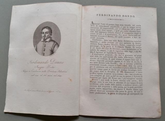 REGNO DI NAPOLI. Campania. FERDINANDO DONNO, nato a Casalnuovo  (Napoli) nel 1591, ivi morì nel 1649. Insigne poeta.