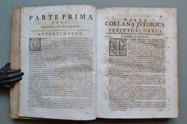 BIBLIOTECA ITALIANA, O Sia Notizia de'' LIBRI RARI NELLA LINGUA ITALIANA, Divisa in quattro parti principali; CIOE'' ISTORIA, POESIA, PROSA, ARTI E SCIENZE