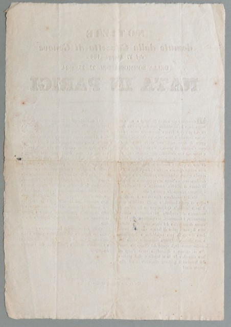 Francia - rivolta del 1848. NOTIZIE desunte dalla Gazzetta di Genova del 27 Maggio 1848. DELLA SOMMOSSA DEL 22, 23 E 24 NATA IN PARIGI