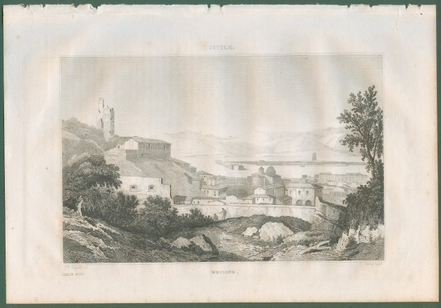 MESSINA. Veduta generale. Da Italie Pittoresque anno1836