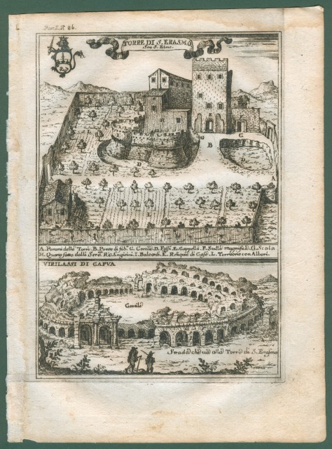 TORRE DI S. ERASMO '– VIRILASSI DI CAPUA, Caserta. Due vedute in unica tavola.