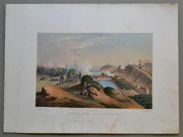 MARCHE - ANCONA. Assedio d'Ancona - Attacco di Porta Pia.