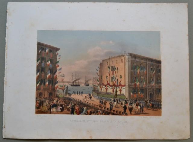 MARCHE - ANCONA. Entrata di Vittorio Emanuele in Ancona.