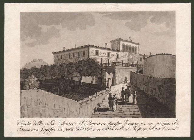 FIRENZE dintorni. Veduta della Villa Palmieri al Mugnone.