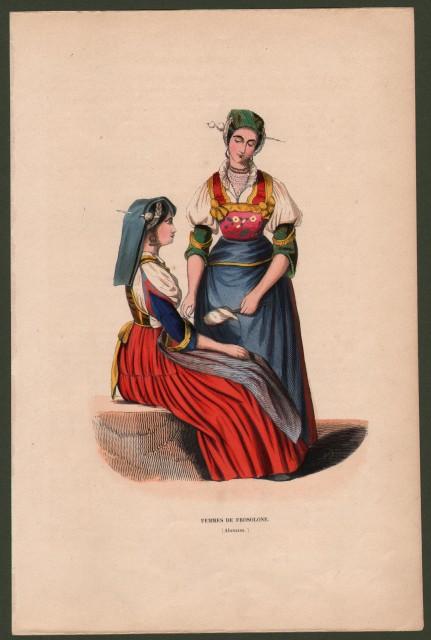 ABRUZZO, Frosolone. Femmes de Frosolone.