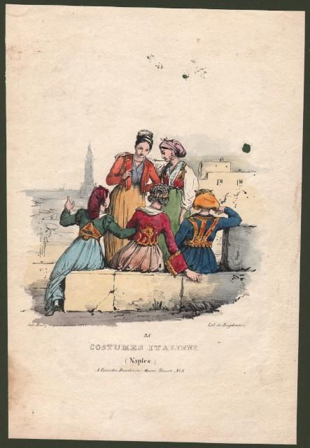 CAMPANIA, NAPOLI. Costumes Italiens (Naples).