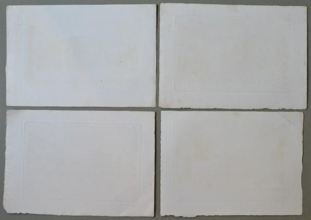 LOMBARDIA '– MANTOVA. Insieme di 4 tavole incise su rame